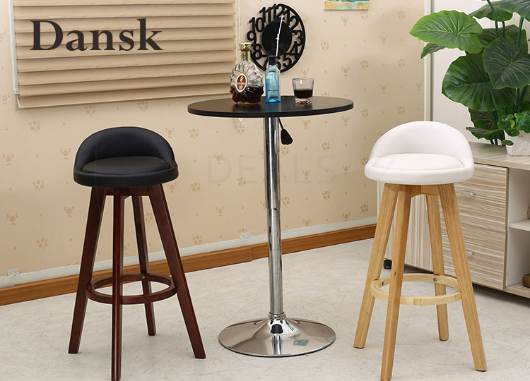 2 X Quot Dansk Quot Wooden Swivel Bar Stool Kitchen Dining Chairs